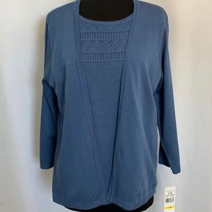 ALFRED DUNNER SWEATER NWT